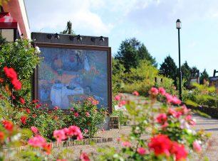 さまざまなバラが楽しめるローズガーデン(バラ 6月下旬~11月上旬)