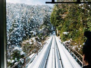 雪道をのぼる