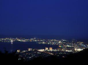 夢見が丘からの大津市内の夜景