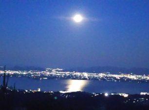 峰道レストランからのきらめく夜景