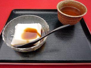 「比叡茶寮」で供される「ごま豆腐」
