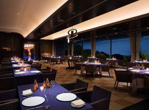 びわ湖や大阪の夜景を眺めながらのディナー
