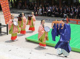 「時の記念日」に行われる漏刻祭