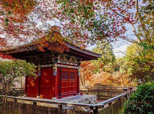 極彩色の装飾が美しい毘沙門堂