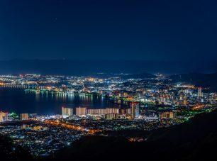 琵琶湖を中心に広がる夜景は圧巻