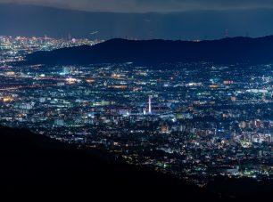 登仙台から望む京都市内の夜景