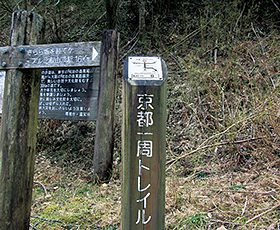 京都一周トレイル「北山⑥」標識
